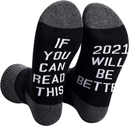 Unisex Funny Words Socks Sick Socks For Women Mens Tube Socks