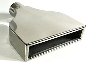 """Stainless Steel Rectangle Exhaust Tip Tailpipe 2.25/"""" inlet 2x6/"""" Outlet 10/"""" Long"""