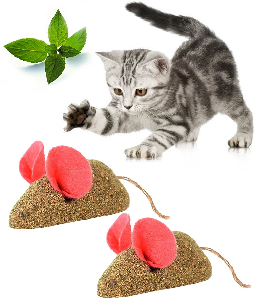Catnip Toys loveone(TM) Edible Cat Mice Interactive Play Toys Hi-Q Natural Catmint Mint Smell Cute Mouse Plaything for Kitty