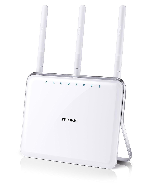 TP-Link AC1900 Gigabit Dualband WLAN Router Archer C9(für Anschluss an Kabel-/DSL-/GlasfaserModem, 600 Mbit/s(2,4GHz)+1300 Mbit/s(5GHz), Beamforming, App Steuerung, USB 3.0, Print/Media/FTP Server)