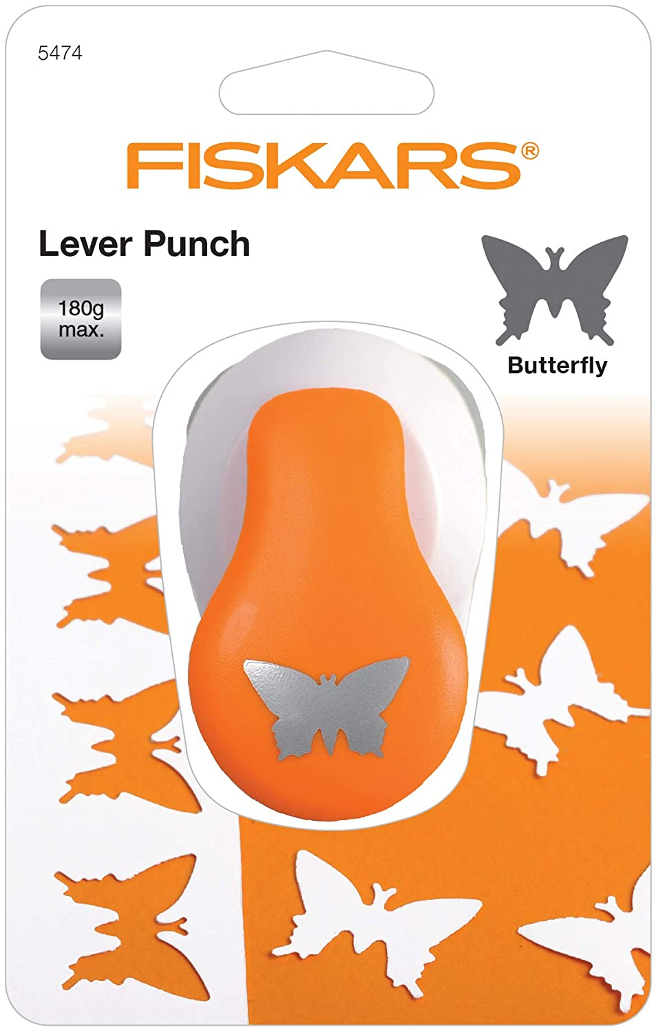 19 mm Fiskars Butterfly Lever Punch For Card Making Scrapbooking Paper Crafts D