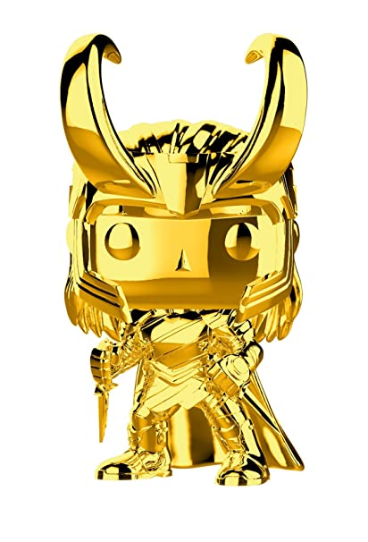 amazon com funko pop marvel marvel studios 10 loki gold chrome