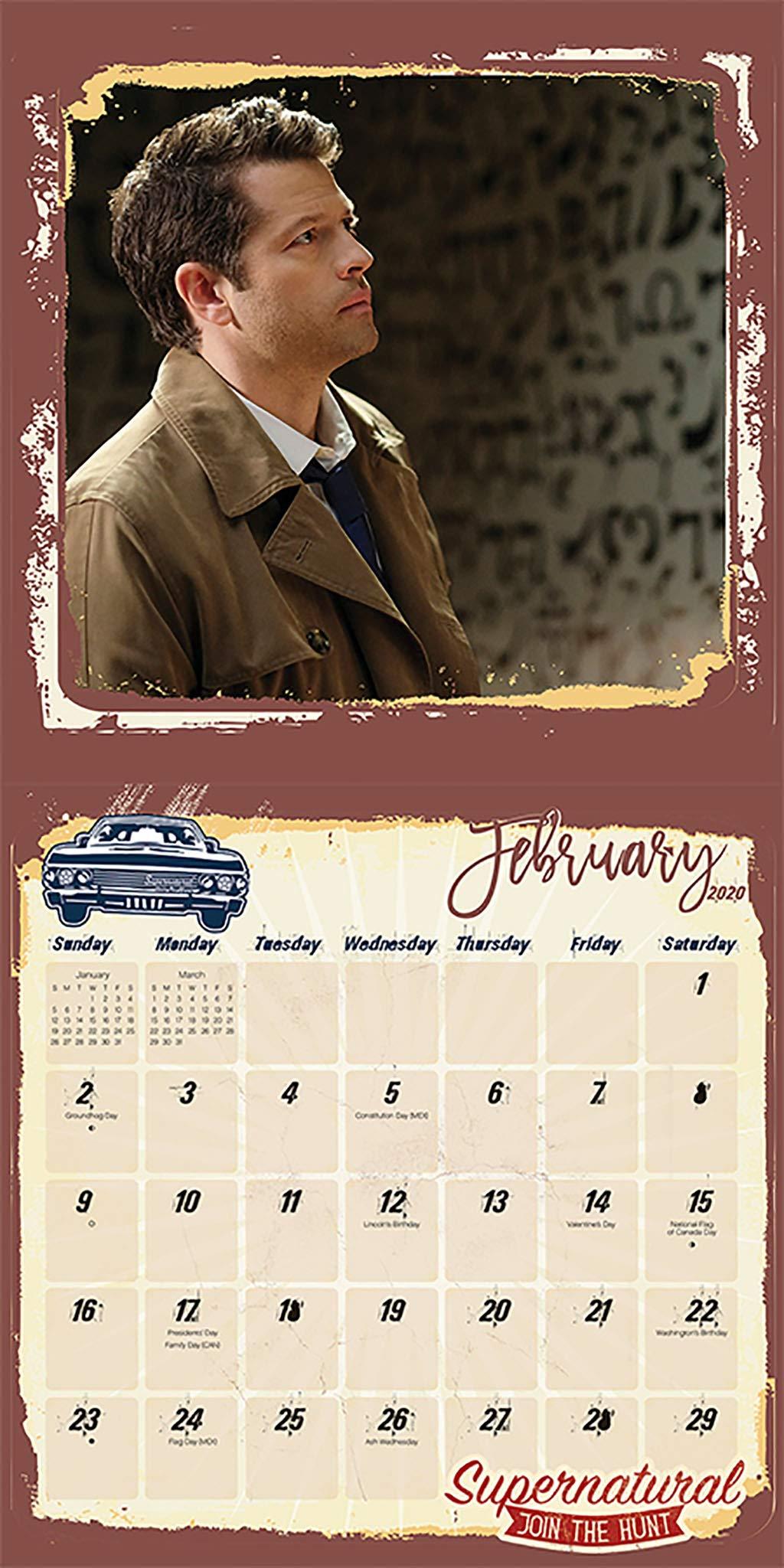 Supernatural Calendar 2020 Supernatural 2020 Wall Calendar: Trends International