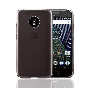 32nd Funda Slim Gel de Silicona Transparente para Motorola Moto G5 Plus Carcasa Ligera Ultra Fina - Gris