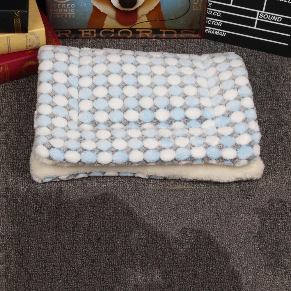 C 3754cmYunYilian Pet Bolster Dog Bed Comfort Pet Blanket Mat Warm cat Dog Universal seat mat (color   D, Size   57  74cm)