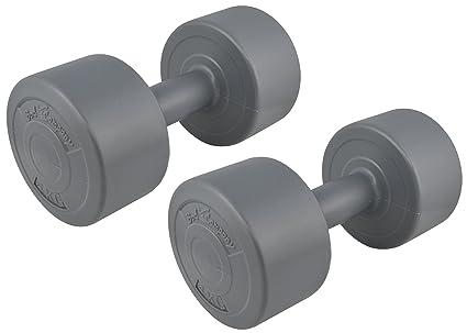 8 kg (2 x 4) plástico-encamisado de gimnasia gris/Kg/