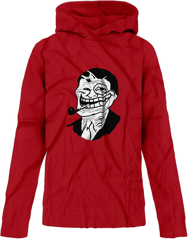 BSW Youth Girls Troll Face Professor Sherlock Gentlemen Premium Hoodie