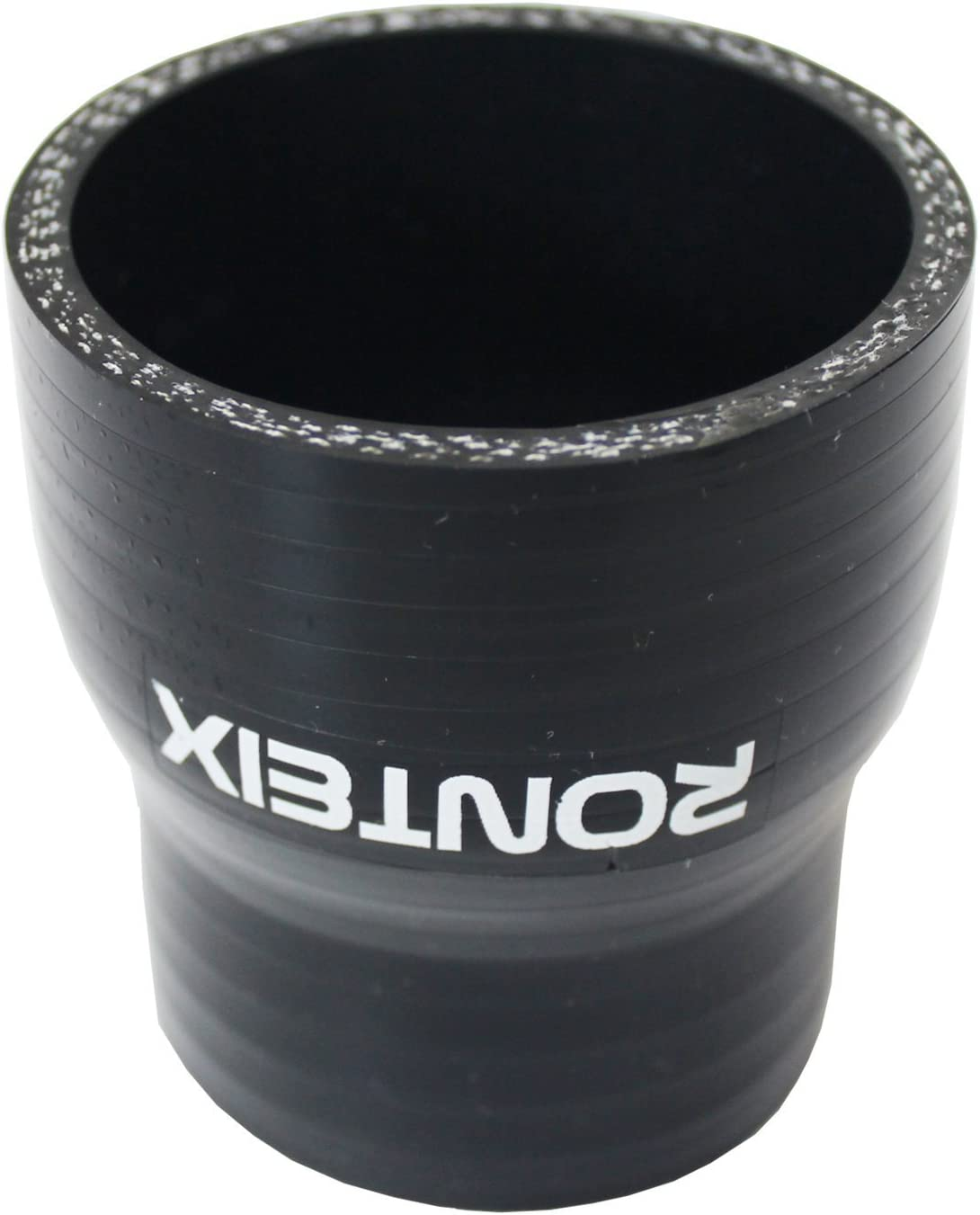 """2.25/"""" BLACK RACING 3 PLY REINFORCED SILICONE STRAIGHT COUPLER /& CLAMP KIT"""