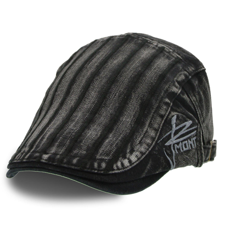 UPhitnis Cotton Newsboy Hats | Stripe, Camo, Check | Stylish Ivy Flat Cap for Men & Women