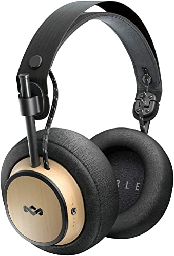 House of Marley Exodus Over-Ear Wireless Headphone 30-Hour Battery Life 50mm Hi Definition Drivers Premium Comfort Memory Foam Ear Cushions Onboard Mic Remote Functionality Quick Charge