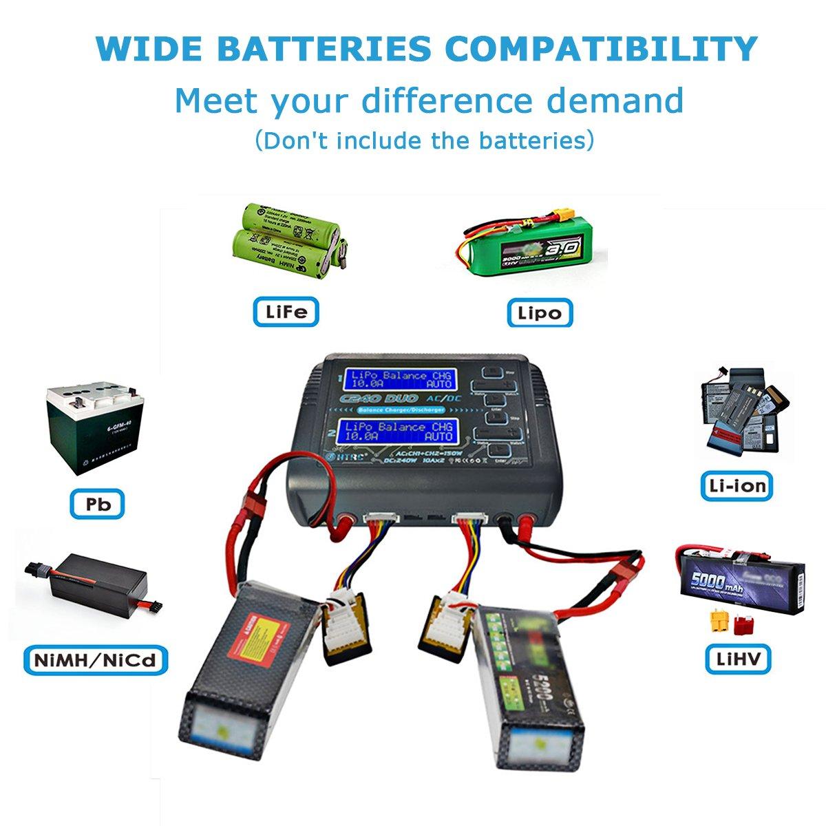 Lipo Balance cargador RC balance Cargador entlader para LiPo lihv Life NiCd NiMH NiMH PB Smart bater/ía C240/Duo 150/W AC//DC 240/W 10/A