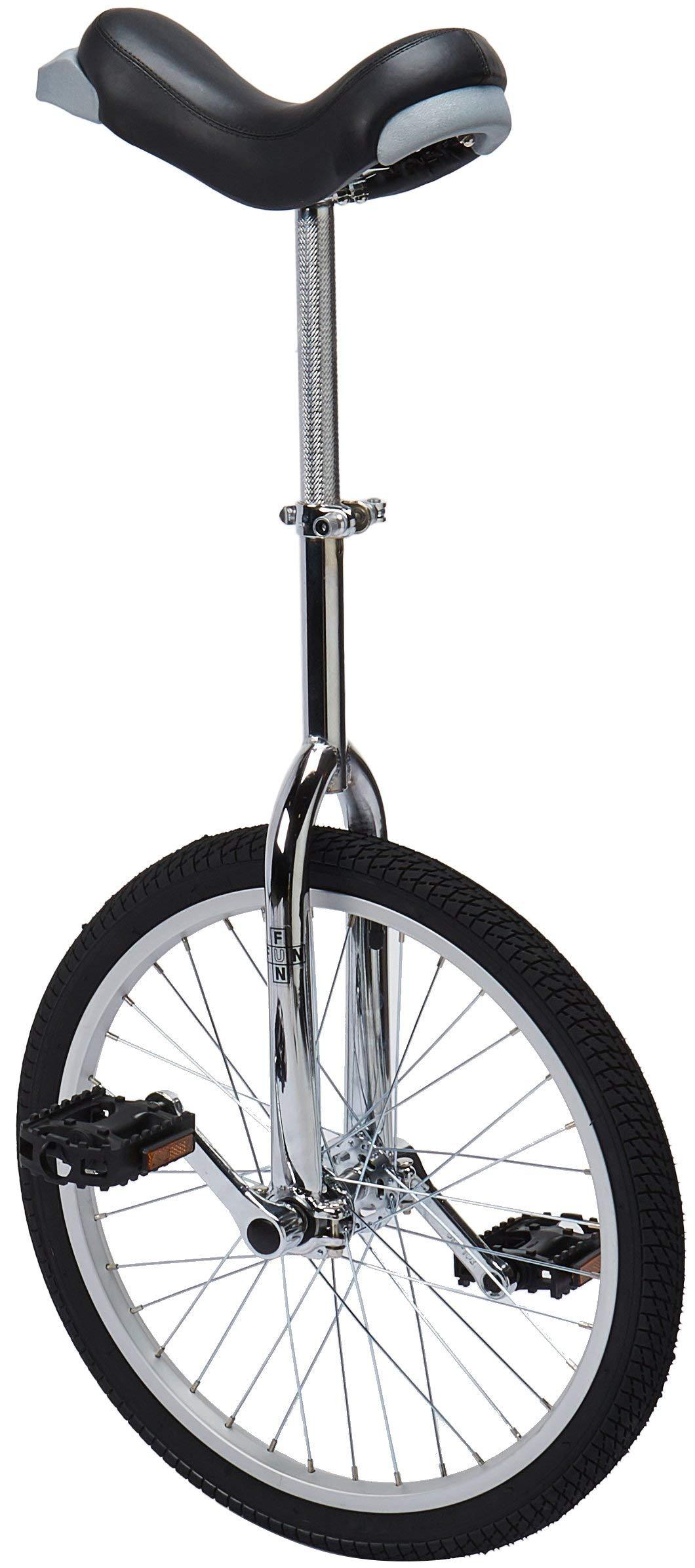 Fun 20 Inch Wheel Chrome Unicycle with Alloy Rim (Renewed)