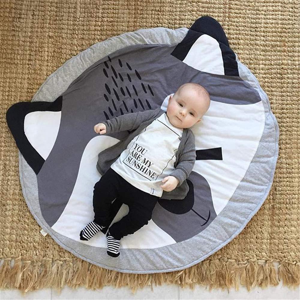 Coton Zone de Soft Round Rugs b/éb/é Chambre denfant D/écor Chambre denfant Tapis pour Chambre de Fille Gray Rabbit Blanketswarm b/éb/é Tapis 0,9/x 0,9/m 90cm=3FT