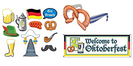 Oktoberfest Photo Booth Props 12 Pack Home, Furniture & DIY