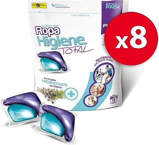 Flopp - Detergente para Ropa Higiene Total, Pack 8 Unidades ...
