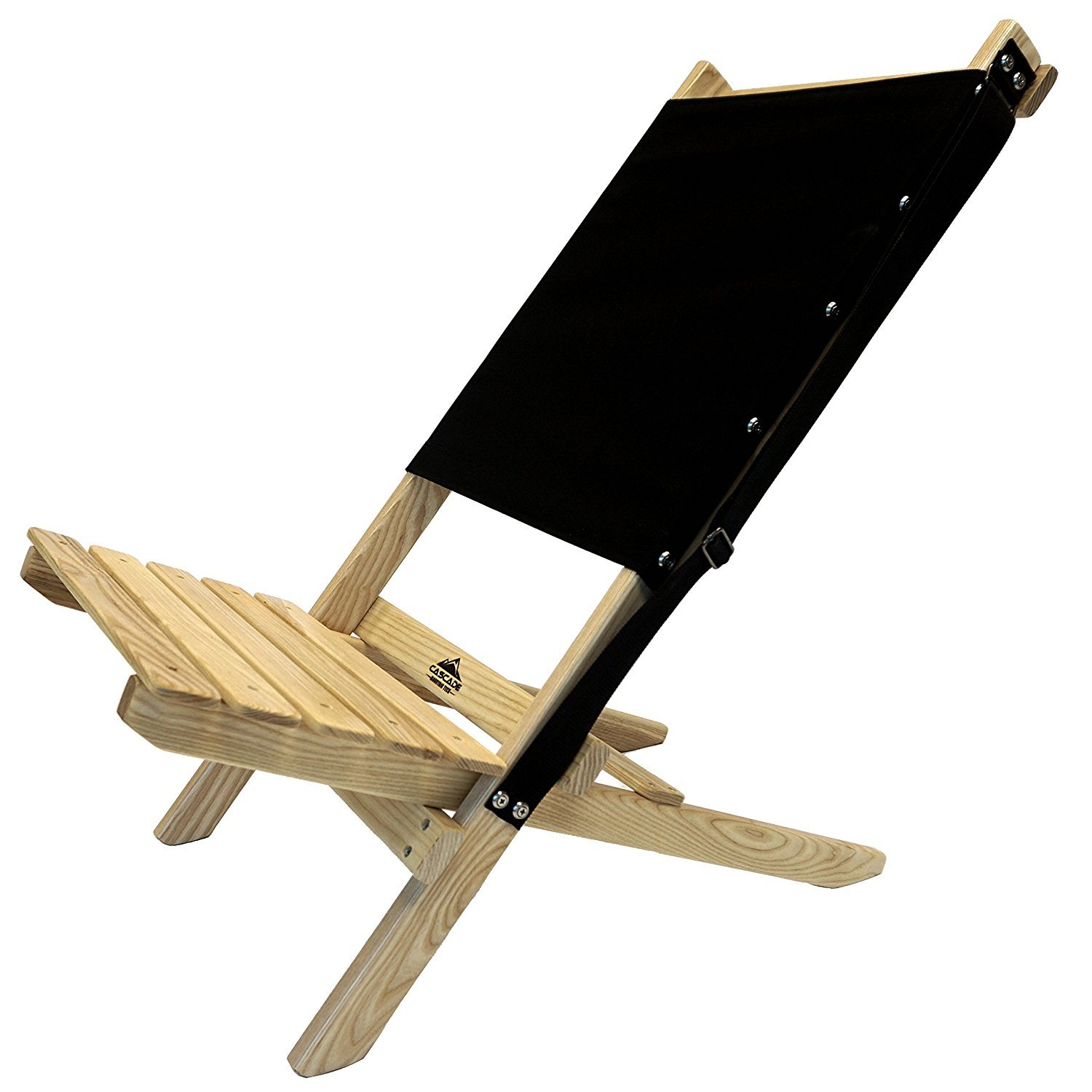 Cascade Mountain Tech Ash Wood Folding Beach Chair with Carry Strap perfect for Deck Patio Lawn and Camping [並行輸入品] B0742FNTBJ