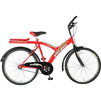 Buy Hero Street Racer 26T Single Speed Mountain Bike 20-inches (Red    Black) Online at Low Prices in India - Amazon.in 511ac3693