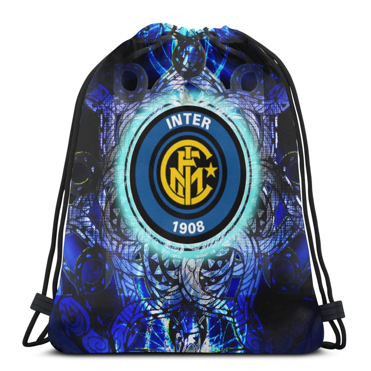 Inter Milan Drawstring Backpack Sport Bags Cinch Tote Bags For Sport And Storage