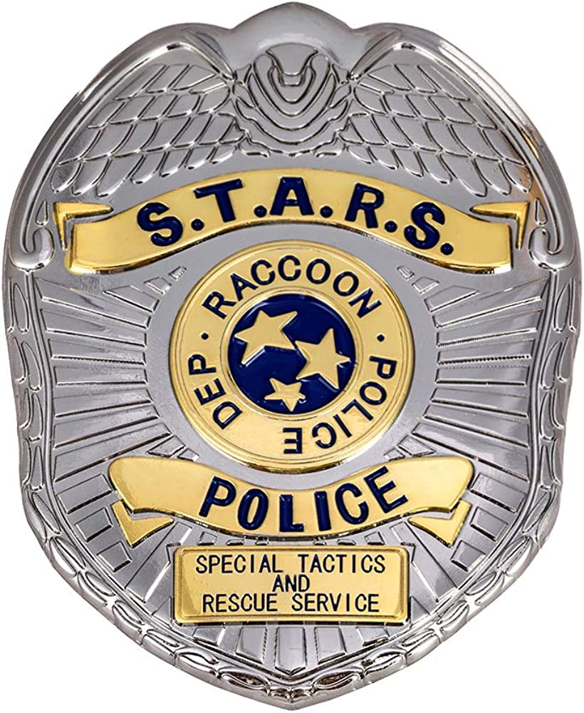 Raccoon Police Department Pin Badge Zinc Alloy Cosplay Costume Accessories for Men Women Pendant Jewelry Gifts Bronze