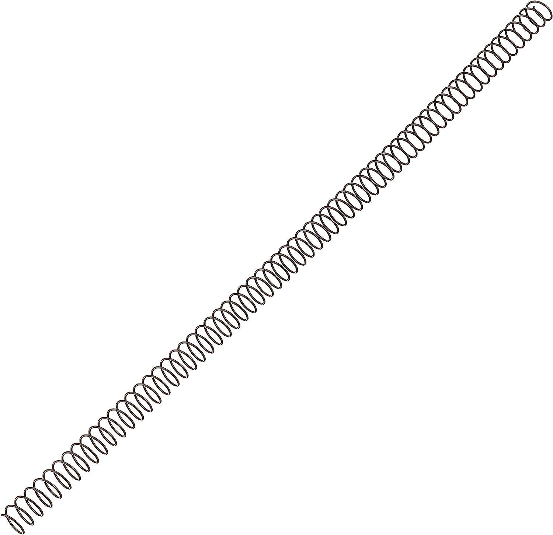 Fellowes 5110301 - Pack de 100 espirales metálicas 10 mm, negras