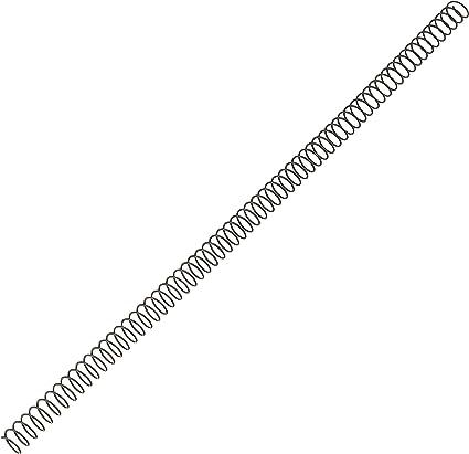 Fellowes 5110301 - Pack de 100 espirales metálicas 10 mm, negras: Amazon.es: Oficina y papelería