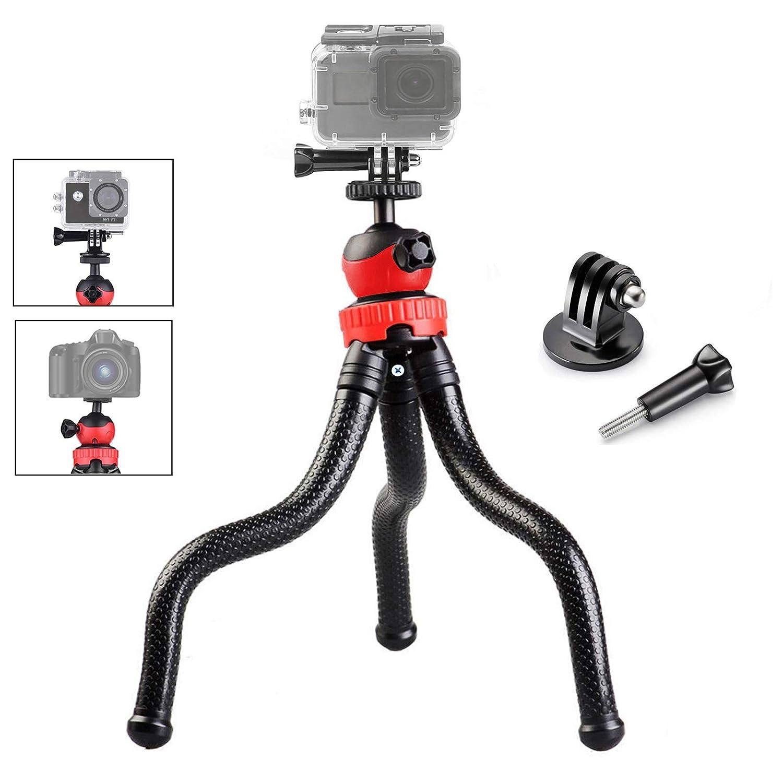 Gurmoir 3イン1 フレキシブルカメラ三脚 Gopro Hero 7/Hero 6/5/(2018) SJCAM YI アクションカメラ/DSLR Canon Nikon Sony カメラ用 12インチのフレキシブル三脚とアダプター付き。Gopro DSL カメラ用長いねじ。   B07HBZ5QB5