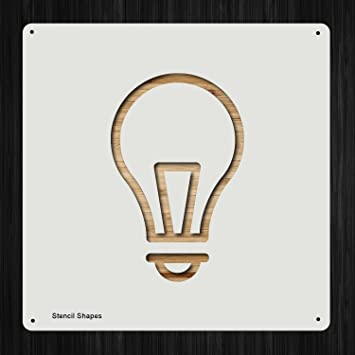 Amazoncom Idea Lightbulb Light Bulb Plastic Mylar Stencil For