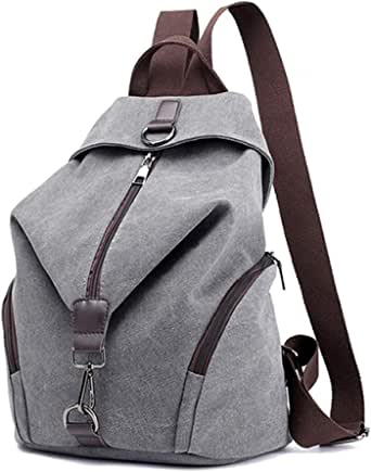 Ryggsäck kvinnor mode ryggsäck stöldsäker kanvas ryggsäck, JOSEKO damer resväska skolväska vintage väska stor kapacitet vardaglig dagväska för semester resor vandring dagligen W