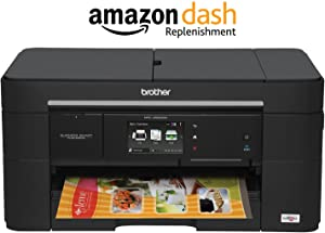 Brother Printer MFCJ5520DW Wireless All-in-one Inkjet Printer, Amazon Dash Replenishment Enabled