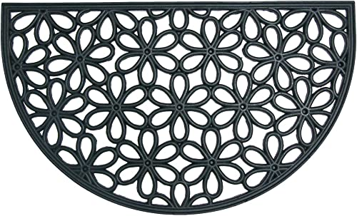 Rubber-Cal Spring Bouquet Outdoor Cast Iron Doormat 18 by 30-Inch