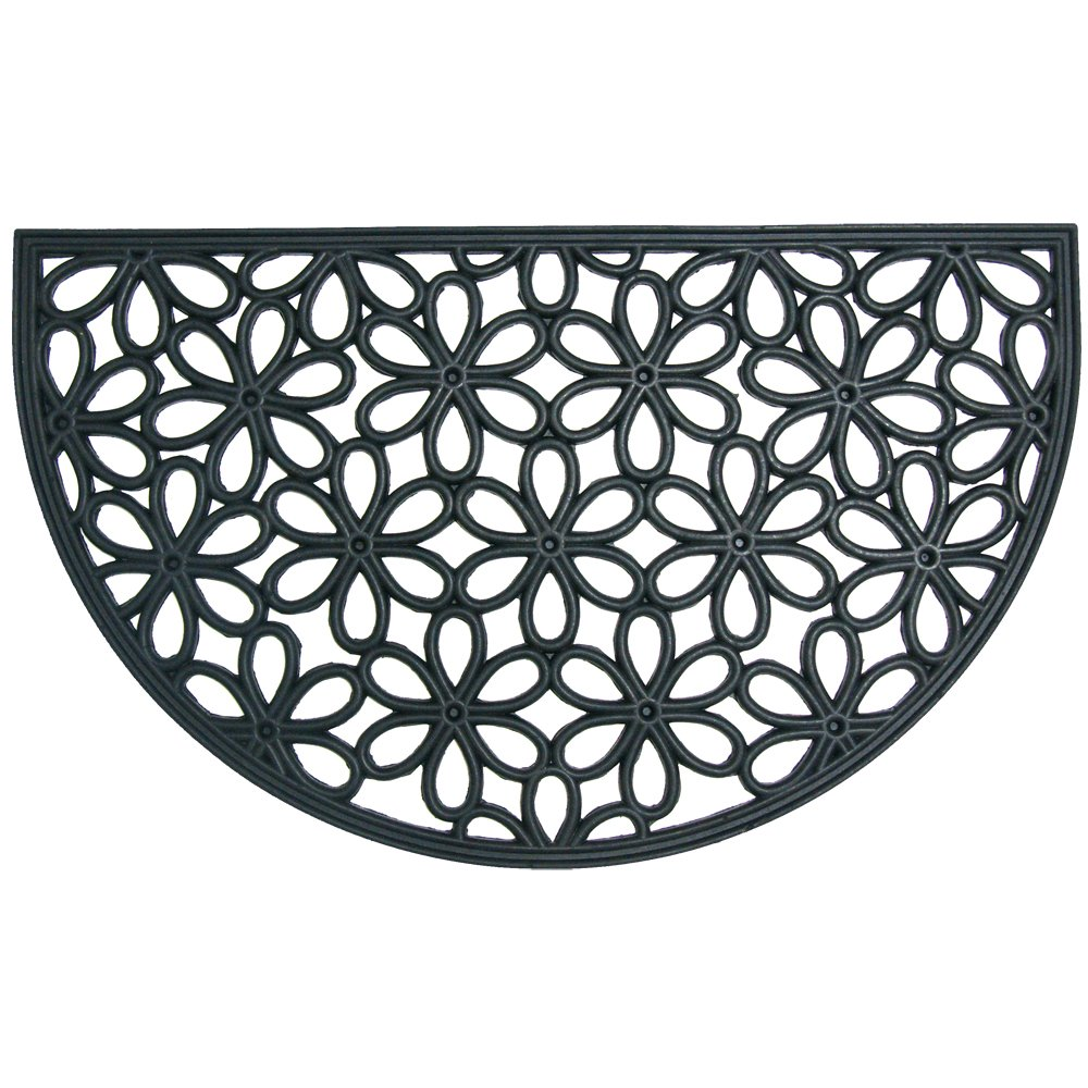 Rubber-CalSpring Bouquet Outdoor Cast Iron Doormat 18 by 30-Inch 10-103-508