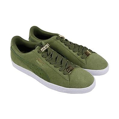 4eaf3cdbab50 PUMA Suede Classic B-Boy Fabulous Mens Green Suede Sneakers Shoes 7
