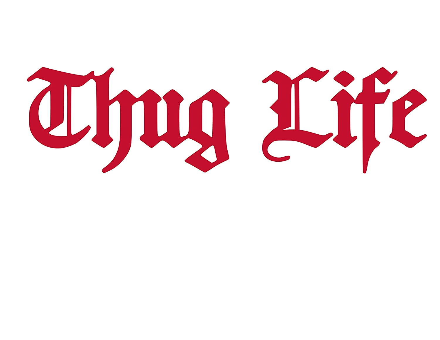 Amazon com thug life vinyl sticker decal sports outdoors