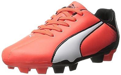PUMA Adreno Firm Ground JR Soccer Shoe (Infant/Toddler/Little Kid/Big Kid) , Black/White, 6 M US Big Kid