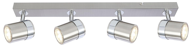 Moderne élégant 3voies plafonnier spot luminaire droite Bar compatible LED [Classe énergétique A+] UKEW