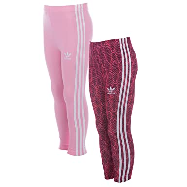 48433f5e9b97e adidas Originals Lot de 2 Leggings pour bébé Fille Rose Fille ...