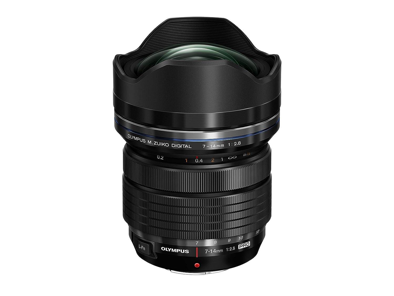 Olympus M.Zuiko Digital ED 7 ‑ 14 mm 1:2.8 Pro - Objetivo (Gran Angular, diseñ o Compacto y Ligero), Color Negro diseño Compacto y Ligero) EZ-M0714 PRO