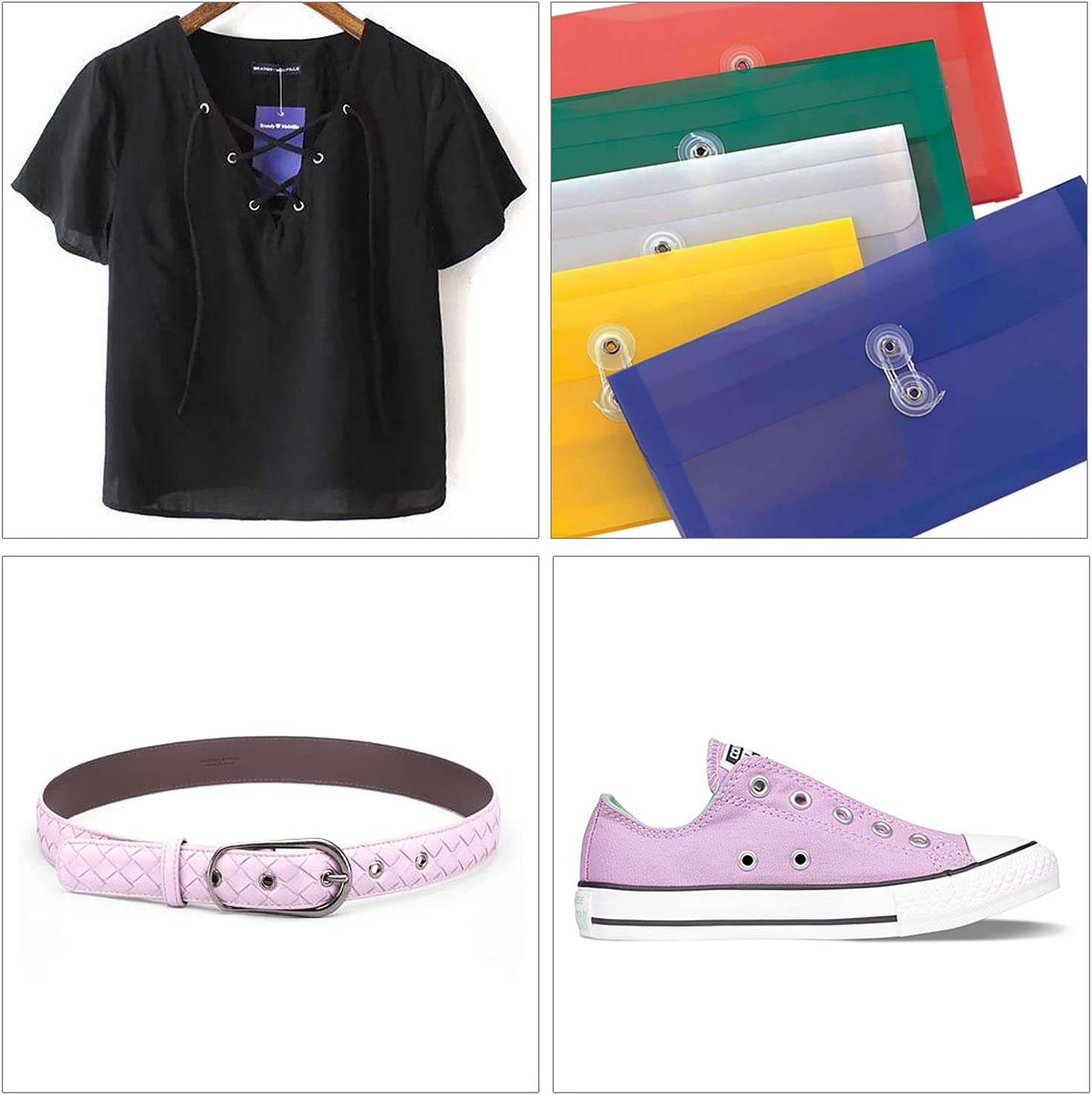 Manualidades y otras Telas Abridor de Aguejeros Ropa Herramienta Fija Box Costura para el Mantenimiento de Zapatos AMIGOB Kit Ojetes Metalicos 12 mm con 150pcs Ojetes
