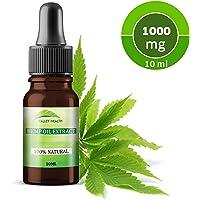 Organic Hemp Oil Extract 10% 1000MG | 100% Natural for Pain & Inflammation Relief, Skin Health, Stress, Mood, Immune System | Vegan & Vegetarian | 10ml