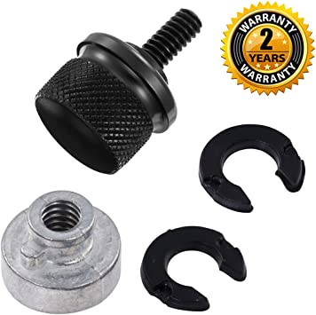 Black Seat Screw Quick Mount Bolt for Harley Davision Road King Road Glide Ultra 1996-2020 Pack of 2