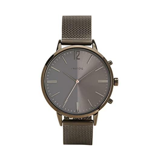 Parfois - Reloj Casual General Watches - Mujeres - Tallas Única - Níquel Negro: Amazon.es: Relojes