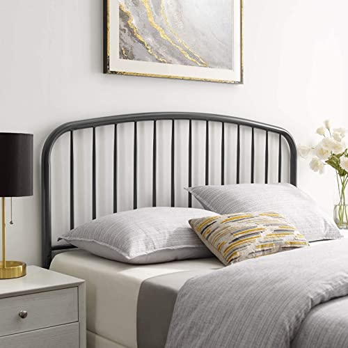 Modway Nova Modern Farmhouse Metal Queen Headboard