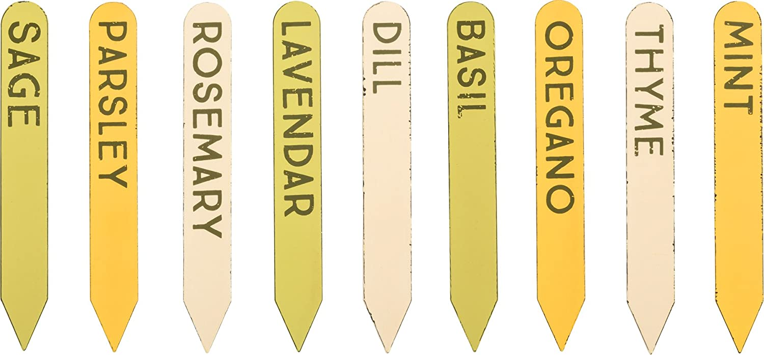Herb Garden Plant Labels - Tin Herb Markers - Set of 9