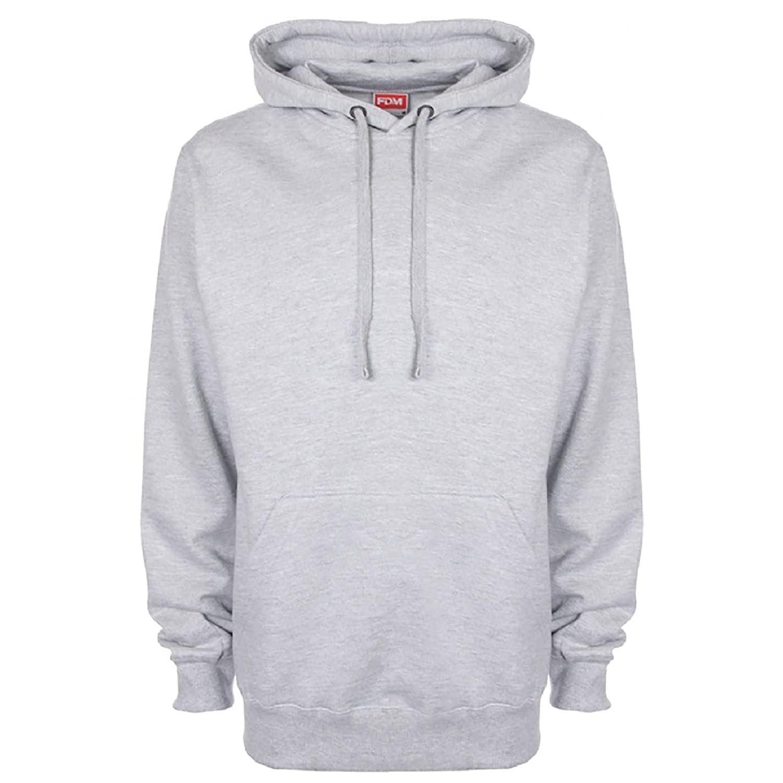339ed59ac14 Amazon.com  fdm Unisex Plain Original Hooded Sweatshirt Hoodie (300 GSM)   Clothing