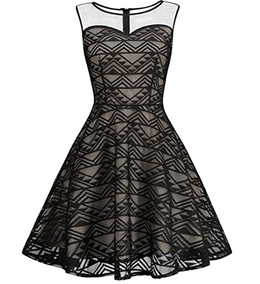Penin Summer Vintage Elegant Women Dress Plus Size Mesh Printed Knee Length Dresses Sexy Ladies Tunic