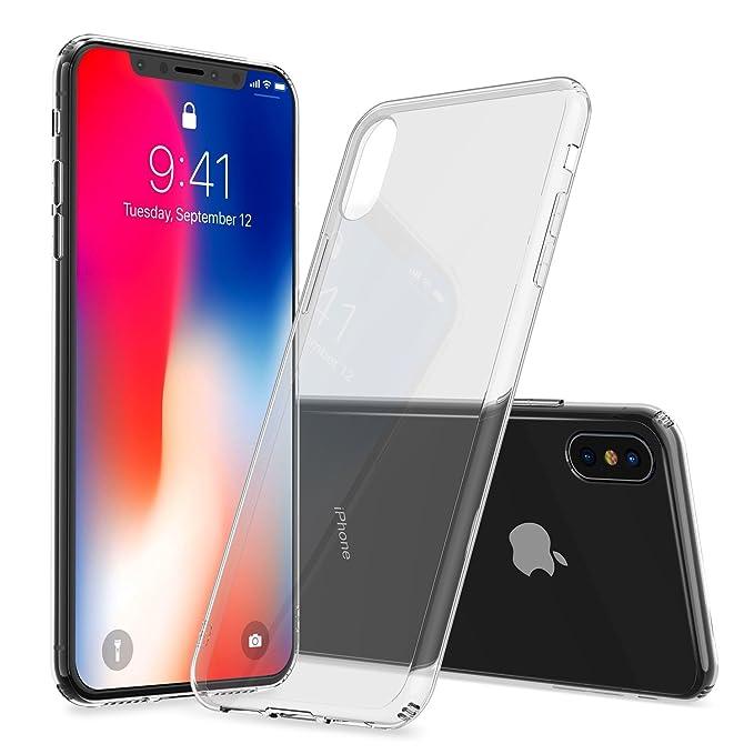 64 opinioni per iPhone X Caso, iPhone 10, Alyee TPU + Difficile PC Trasparente Gel Caso Shock