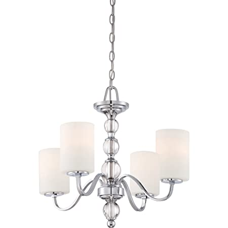 Quoizel DW5004C Downtown Glass Ball Chandelier, 4-Light, 400 Watts, Polished Chrome 20 H x 22 W
