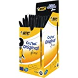 BIC Cristal Original Fine Ballpoint Pens Black 50 Box