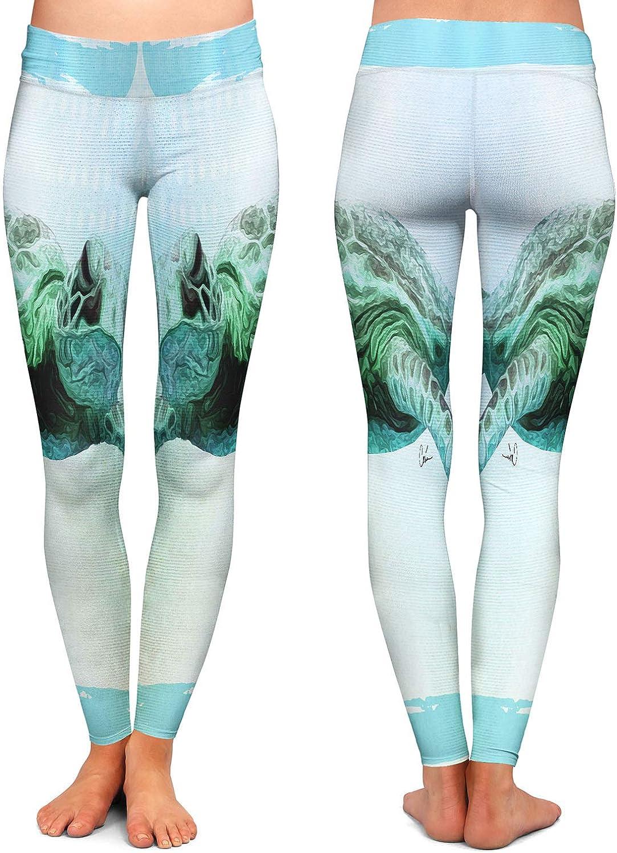 Sea Turtle 7 Athletic Yoga Leggings from DiaNoche Designs by Corina Bakke