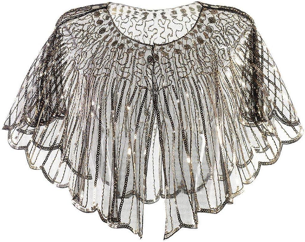TWIFER Damen Umschlagt/ücher Bankett Abendkleid Weibliche Neue Pailletten B/ühne Brautkleid Schal